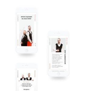 Промо-сайт: Ведущие Александ и Егор из Мурманска. Сделано в Fenneco